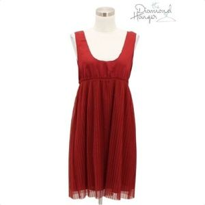 A06 VERA WANG Dress Size Small S 4 6 Red Formal